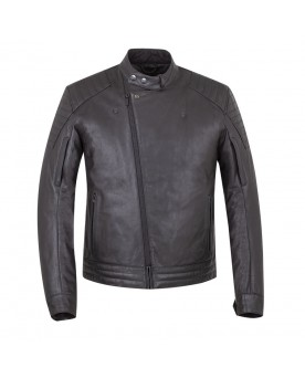 DENTON LEATHER JACKET, BLACK