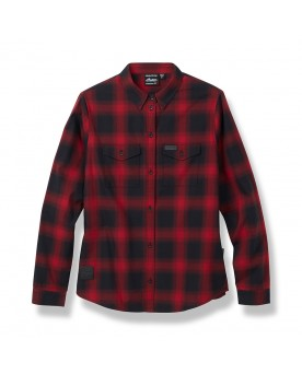 WOMEN'S PLAID SHIRT IN RED