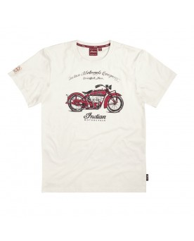 1920 SCOUT BIKE TEE, WHITE
