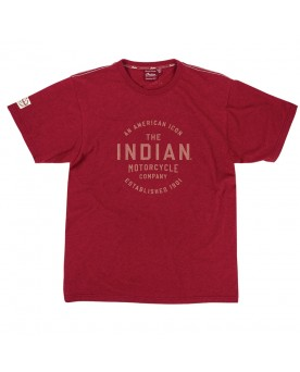 Men's red marl tee