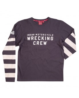 Mens LS wrecking crew tee