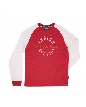 LONG SLEEVE MOTOCROSS TEE, RED