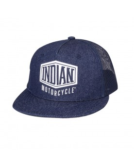 HIGH PROFILE DENIM HAT, BLUE