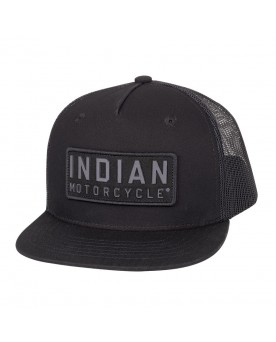 HIGH PROFILE FELT PATCH HAT, BLACK