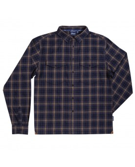 TWIN POCKET PLAID SHIRT, GRAY
