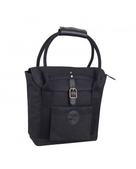 Womens Waxed Cotton Tote  - Black
