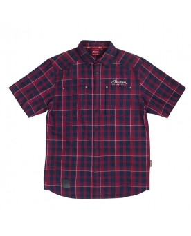 Mens SS Plaid Shirt Red