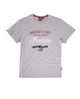 T-SHIRT CRAFTED, GRIS