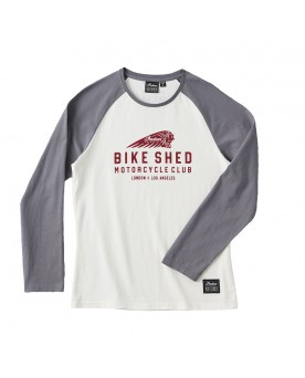 T-SHIRT BASE BALL BSMC x INDIAN MOTORCYCLE, MANCHES LONGUES