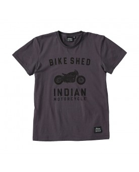 BSMC x INDIAN MOTORCYCLE CUSTOM T-SHIRT, ANTHRAZIT
