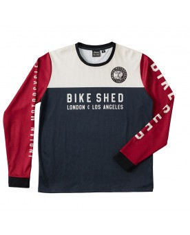 BSMC x INDIAN MOTORCYCLE RACE JERSEY, PORTWEINROT