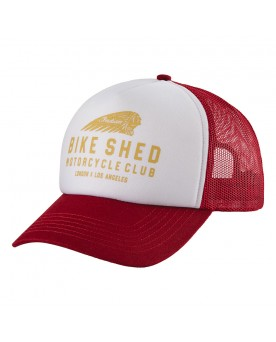 BSMC x INDIAN MOTORCYCLE SCHAUMSTOFF-CAP, WEISS