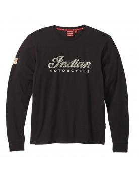 Long Sleeve Script Logo T-Shirt, Black