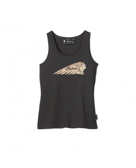 Marl Headdress Tank Top, Charcoal