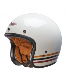 Retro Open Face Helmet White