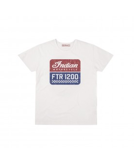 Men's 1200 logo tee ecru