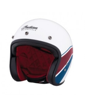 White Stripe open face helmet ECE
